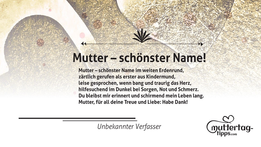 Mutter – schönster Name!